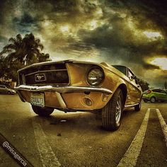 Classic Ford Mustang. photo artwork by misagarcia