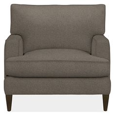 Seaton Chair & Ottoman - Chairs - Living - Room & Board.  With down cushions.  $899 in stock colors or can custom order.