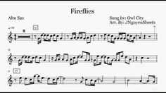 Fireflies - Owl City (Saxophone Sheet Music) Saxophone Sheet Music, Ukulele Chords, Owl City, Music Theory, Fireflies, Alaia, Songs, Minecraft, Piano