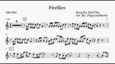 Fireflies - Owl City (Saxophone Sheet Music)