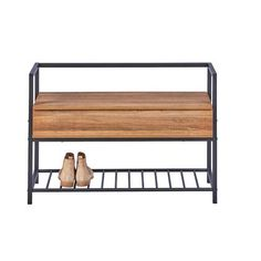 Polenace Wood and Metal Storage Bench Wood And Metal, Outdoor Furniture, Outdoor Decor, Entryway Bench, Shoe Rack, Storage, Home Decor, Products, Cloakroom Basin