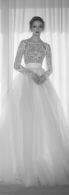 Dany Mizrachi 2016 Bridal Collection - Belle The Magazine 2016 Wedding Dresses, Designer Wedding Dresses, Wedding Attire, Bridal Dresses, Dress Wedding, Beautiful Wedding Gowns, Beautiful Dresses, Weeding Dress, Long Sleeve Wedding