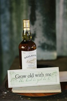 """Grow old with me the best is yet to be"" Pre-wedding gift from the bride to her groom 