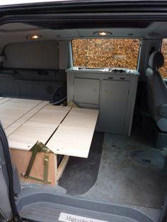 Mercedes Sprinter 4x4 Camper, Mercedes Vito Camper, T4 Camper, Camper Beds, Small Camper Vans, Small Campers, Vw Syncro, Vw T4, Bus Interior