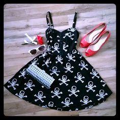 Spotted while shopping on Poshmark: Black Skull Pin Up Rockabilly Dress! #poshmark #fashion #shopping #style #Royal Bones #Dresses & Skirts