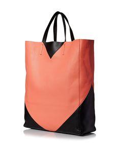Céline Women's Colorblocked Tote, Orange/Black at MYHABIT