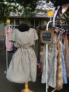 Winkie Vintage clothes stall at Abbotsford Supper Market