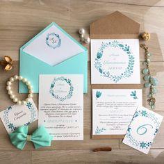 Шаблон приглашения на свадьбу цвет тиффани, пригласительные на свадьбу, свадебные приглашения