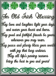irish blessing for courage typography in green poster
