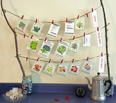 The perfect winter pick-me-up! You can print out labels that remind you when each group of seeds should be sown.