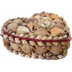 Vintage heart shaped shell jewelry box (c Shabby Chic Christmas, Victorian Christmas, Vintage Christmas Ornaments, White Christmas, Christmas Mantles, Christmas Trees, My Childhood Memories, Childhood Toys, 1970s Childhood