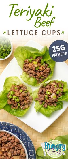 Teriyaki Beef Lettuce Cups + More Lettuce-Wrapped Lunch Recipes Lunch Recipes, Beef Recipes, Mexican Food Recipes, Cooking Recipes, Healthy Recipes, Sandwich Recipes, Recipes Dinner, Yummy Recipes, Dinner Ideas