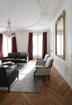 finished odeon living room   A+B Kasha, apartment renovations in St Germain