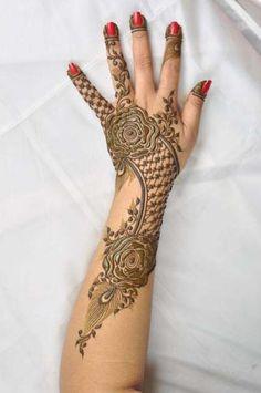 flower style wedding festive mehndi for hands