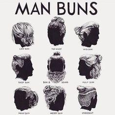 ///man buns style. #hitmooo #manbunsunday #manbuns #mbm #mun #broknot #brothabun…