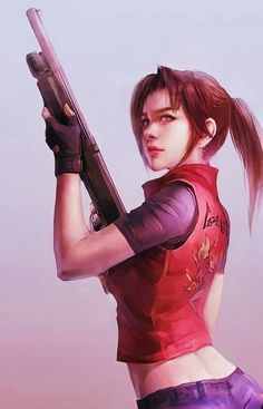 Resident Evil Girl, Claire, Anime, Games, Comic Art, Videogame Art, Girls, Cartoon Movies, Gaming