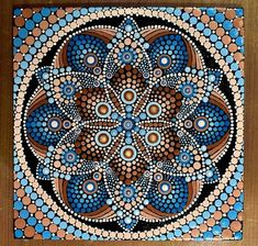 By Joanne Grossman Mandala Art, Mandala Canvas, Mandala Painting, Mandala Pattern, Mandala Drawing, Zantangle Art, Dot Art Painting, Painting Patterns, Stone Painting