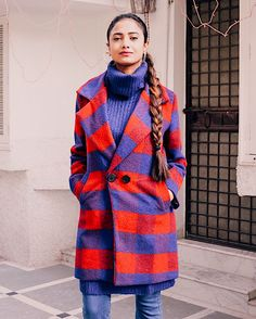 how to make a chic style statement in winter outfits, statement coat, statement outerwear, style  plaid, style check outerwear, fringed denim, blue denim, updated denim, style updated denim, refreshed denim, effortless chic, parisian look, parisian style, winter outfit inspiration, high neck knit, red and blue, nude shoes, 4thandreckless, lightinthebox, lightinthebox review, daily outfit inspiration, wear in winter, make a statement, style statement, 2017 top blogger outfit,  top winter…