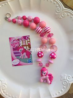 My Little Pony Inspired Girl Necklace Pinkie by JJRDesigns on Etsy, $22.25