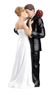 Tender Moments Cake Topper - Caucasian from Wedding Favors Unlimited