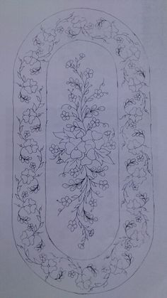 Desen -33 Floral Embroidery Patterns, Embroidery Fashion, Hand Embroidery Designs, Ribbon Embroidery, Embroidery Art, Embroidery Stitches, Machine Embroidery, Bordado Popular, Hungarian Embroidery