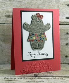 Bear Hugs Stamp Set & Framelits, Affectionately Yours Designer Paper, Floral Affection Embossing Folder #stampinup www.stampstodiefor.com