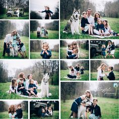 Advice on what to wear for a family portrait session. Wardrobe for photos. Spring Portrait session with dog and family of 5. Spring Hill, TN