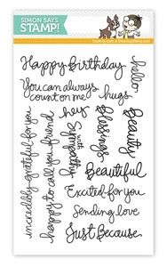 Simon Says Clear Stamps HANDWRITTEN SENTIMENTS sss09122 Preview Image