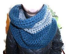Women Scarf-Snood Handmade from blended wool.
