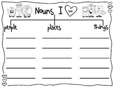 Tree Map for Nouns- I like the idea of changing this map out for different months of the year and making one for verbs, adjectives, etc. First Grade Writing, First Grade Classroom, Classroom Fun, Classroom Activities, Thinking Maps, Kindergarten Language Arts, Classroom Language, Word Study, Word Work