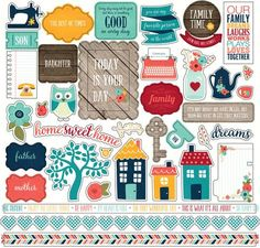 Echo Park 12x12 Cardstock Stickers - The Story of Our Family - Elements