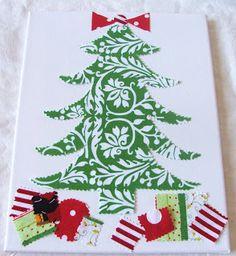 Cleverlyinspired: Christmas Tree Canvas...Easy Art