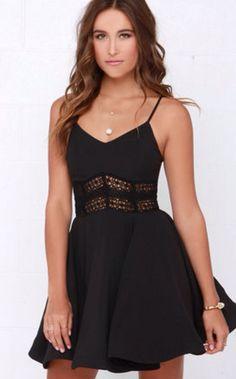 It's Electric Black Lace Dress $48 lulus.com