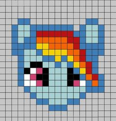Your Childhood Lives On In Perler Beads: 40 Nerdy Patterns Pony Bead Patterns, Hama Beads Patterns, Beading Patterns, Cross Stitch Patterns, Bracelet Patterns, Perler Bead Designs, Perler Bead Art, Minecraft Pattern, Pixel Pattern