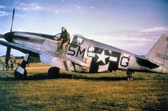 North American P-51C-5-NT Mustang (F-6C) Serial 42-103368 of the 15th TRS at St. Dizler Airfield (ALG A-64), France, Autumn 1944. This aircraft was flown by Captain John H. Hoefker, who used it to shoot down three enemy aircraft in June 1944. Captain Hoefker became the 10th Group's first Ace and finished the war with 8½ air victories, although he (unofficially) had 10.5 kills. This aircraft survived the war, only to be scrapped on June 26, 1946.