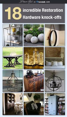 18 Restoration Hardware inspired DIY's for MUCH less