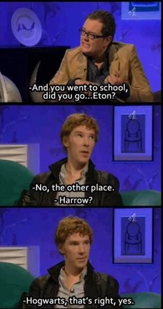 When this happened my friend had to literally sit me down, look me in the eye and keep me from hyperventilating with excitement because OMG Benny making a hogwarts joke AHHHHHH