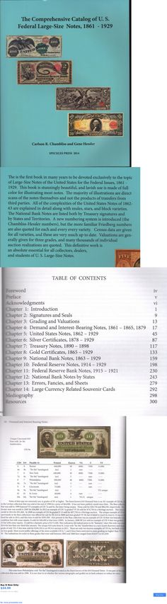 Paper Money: Comprehensive Catalog Of Us Federal Large Size Notes 1861-1929 Free Shipping Usa BUY IT NOW ONLY: $34.99 #priceabatePaperMoney OR #priceabate