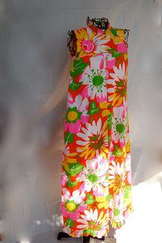 Vintage 1960's Aikene Fashions Hawaiian Floral by CoziDivaBoutique, $15.00