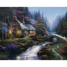 Twilight Cottage ~ Thomas Kinkade