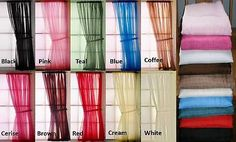 EXTRA LONG PLAIN VOILE SLOT TOP NET CURTAIN PANEL Made in UK + FREE Tie Back