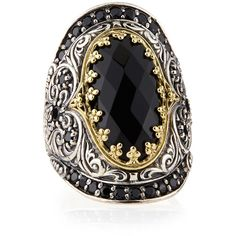 Konstantino Silver & 18k Gold Spinel Oval Ring - Tan (6) and other apparel, accessories and trends. Browse and shop 8 related looks.