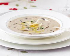 Wild Mushroom Bisque with Truffle Oil