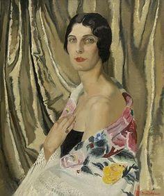 Doris Clare Zinkeisen-Portrait of Margaret Duncan