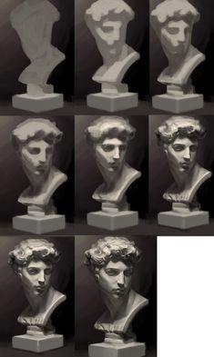 Digital Painting Tutorials, Digital Art Tutorial, Art Tutorials, Digital Paintings, Drawing Tutorials, Concept Art Tutorial, Art Sketches, Art Drawings, Drawing Faces