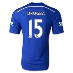 Chelsea 14/15 15 DROGBA Home Soccer Jersey You will enjoy 10% discount once your order is over $150. And free shipping is available once your order is over $99. Discount code: cutoff10%