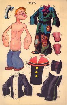 MAGNETIC PLAY PAPER DOLL: Popeye