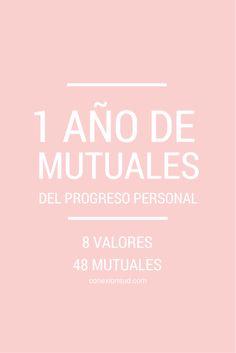 4 mutuales para las Mujeres Jóvenes por mes basadas en las metas del Progreso Personal.