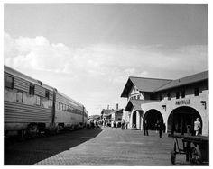 Santa Fe Depot at Amarillo, TX   1955 San Francisco Chief