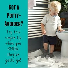 Do you have a potty avoider? Does your little one pop up from the potty and immediately has an accident? Try this simple tip when your kid avoids the potty. It works! Gentle Parenting, Parenting Advice, Potty Training Girls, Kids Potty, Potty Seat, Toilet Training, Disposable Diapers, Baby Milestones, Train Hard